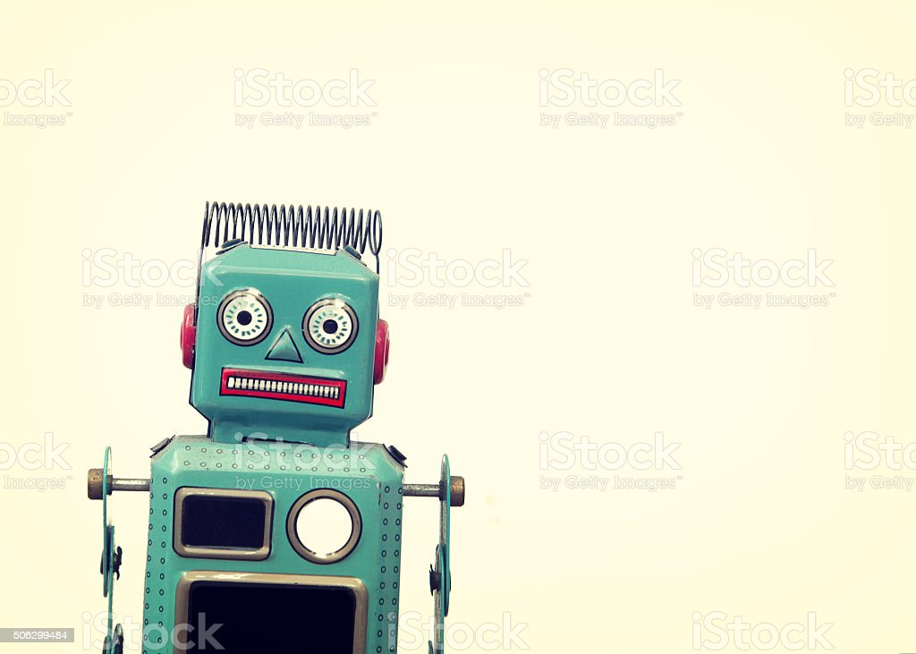 Vintage robot stock photo