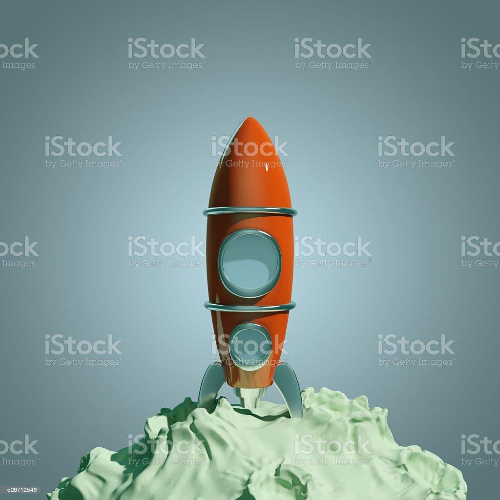 vintage rocket stock photo