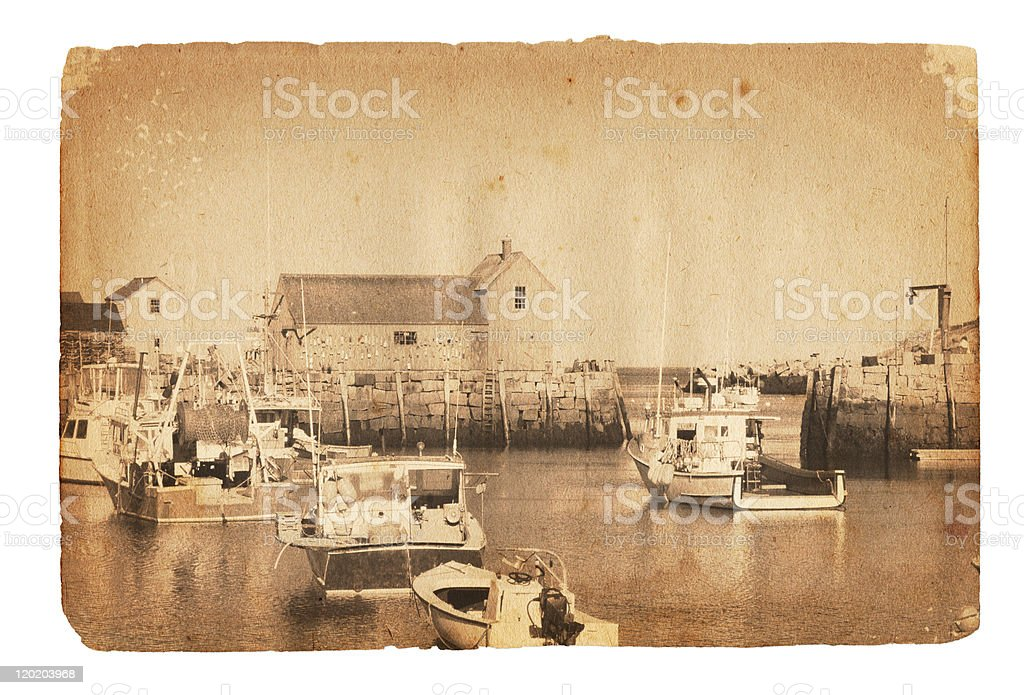 Vintage Rockport Photograph XXXL stock photo