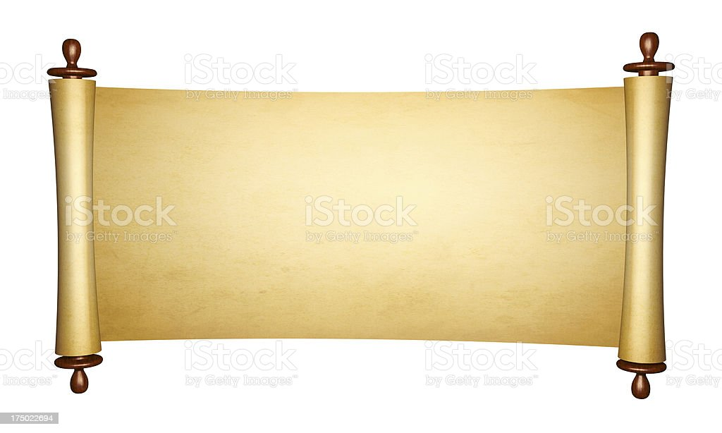 Vintage roll of parchment royalty-free stock photo