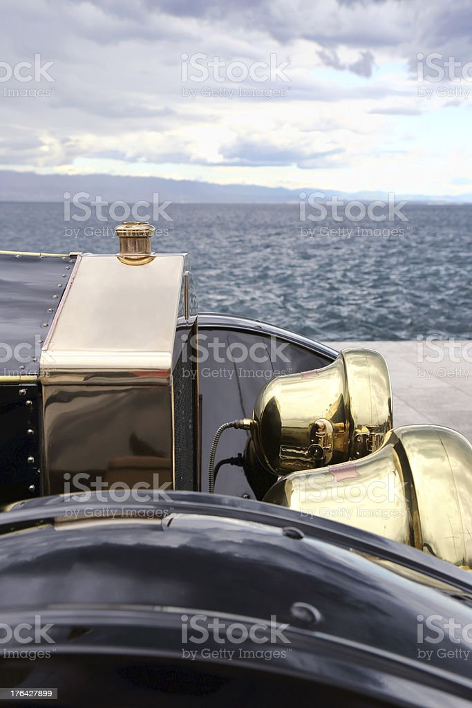 Vintage Rolls Royce details royalty-free stock photo