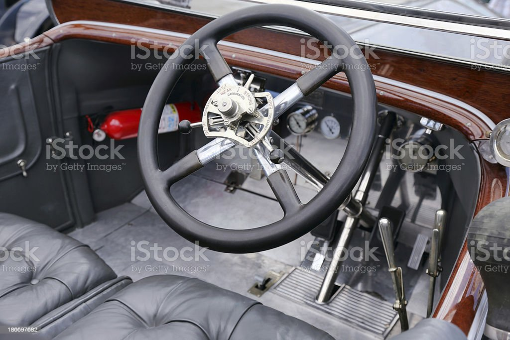 Vintage Rolls Royce interior parts royalty-free stock photo