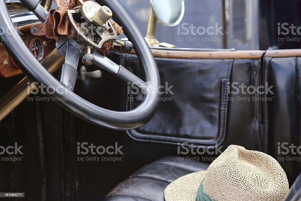 Vintage Rolls Royce interior royalty-free stock photo