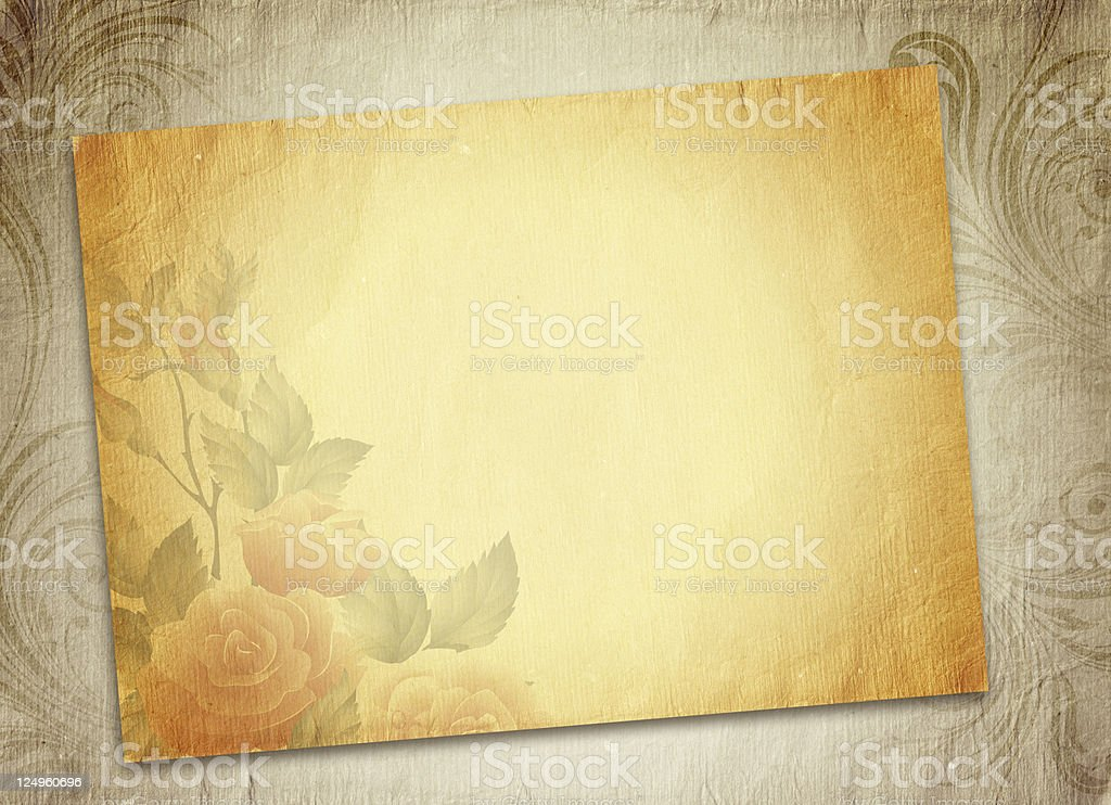 Vintage romantic paper stock photo