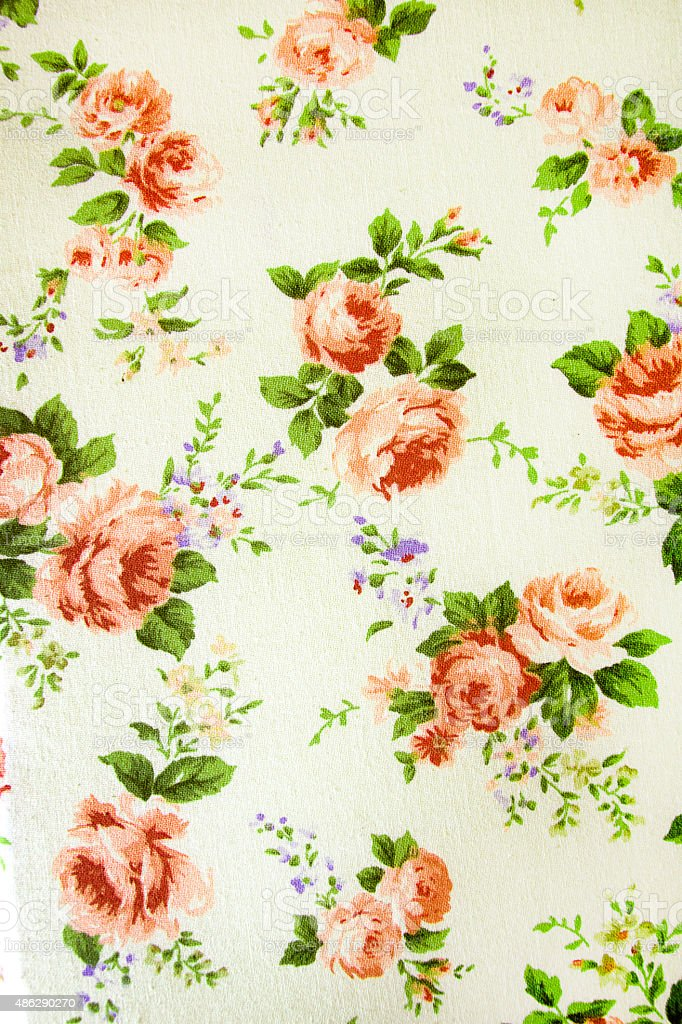 vintage rose pattern on Fabric background. stock photo