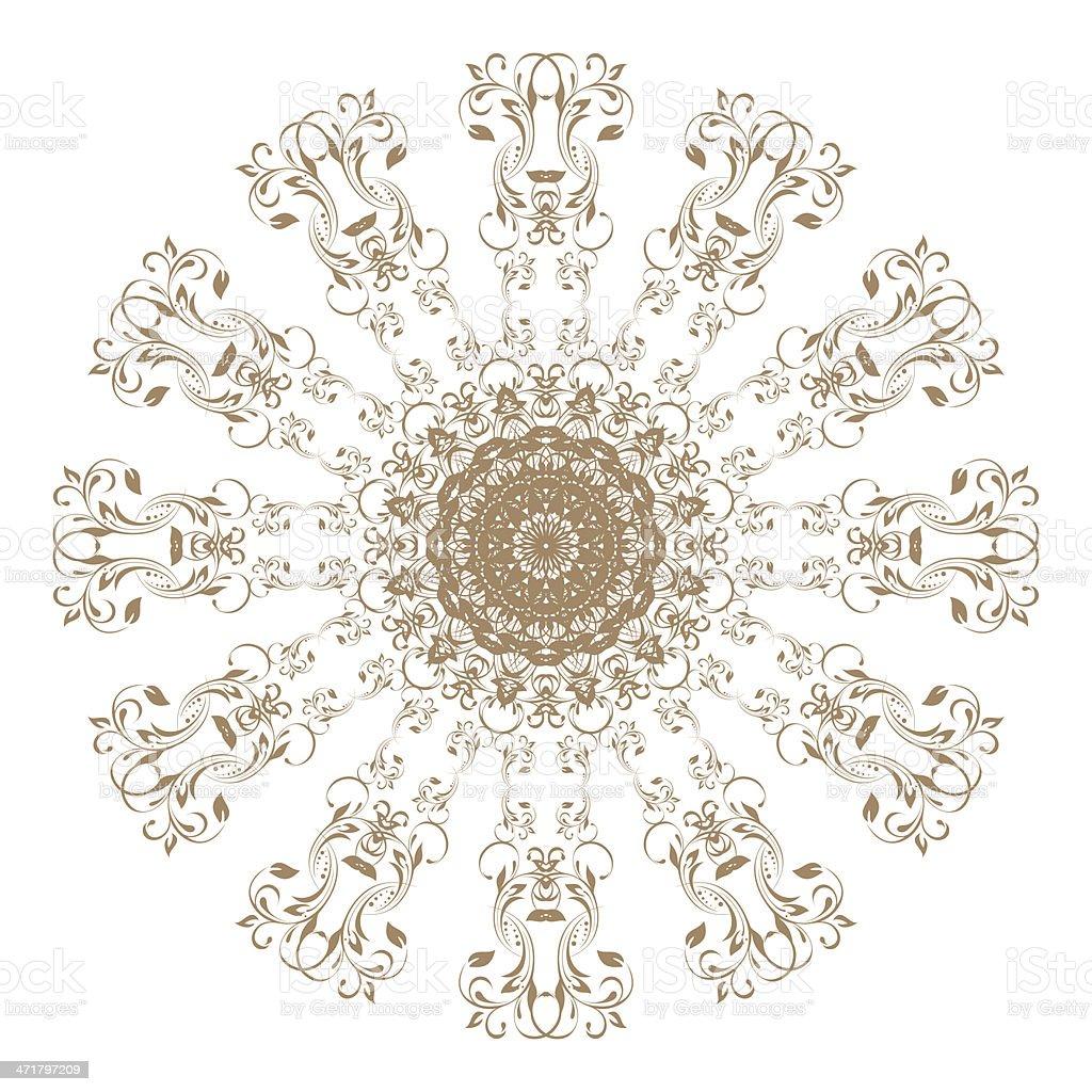 vintage round patterns on white..... stock photo