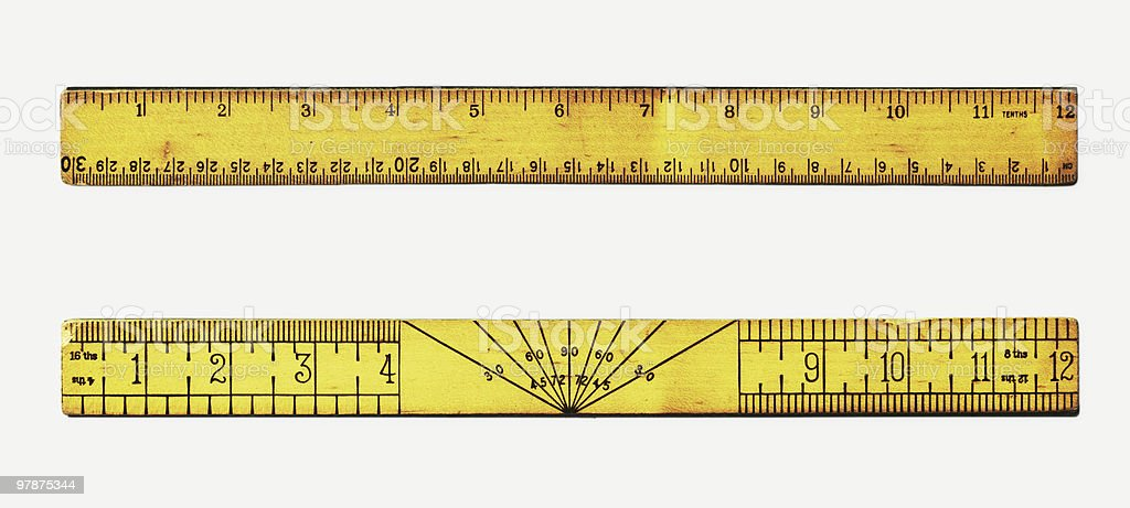 Vintage rulers royalty-free stock photo