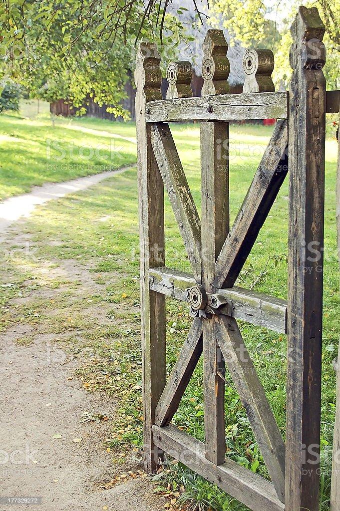 Vintage rural gate royalty-free stock photo
