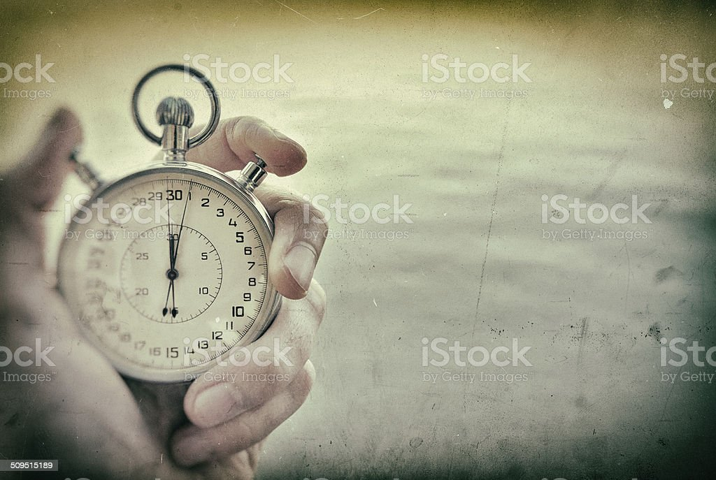 Vintage russian Chronograph stock photo