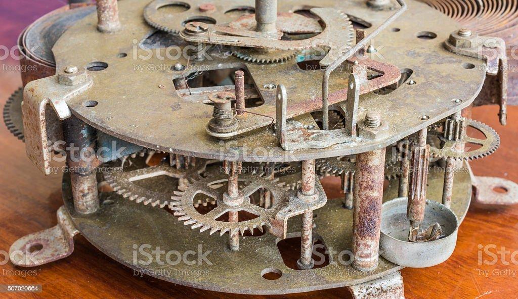 vintage rusty clock stock photo