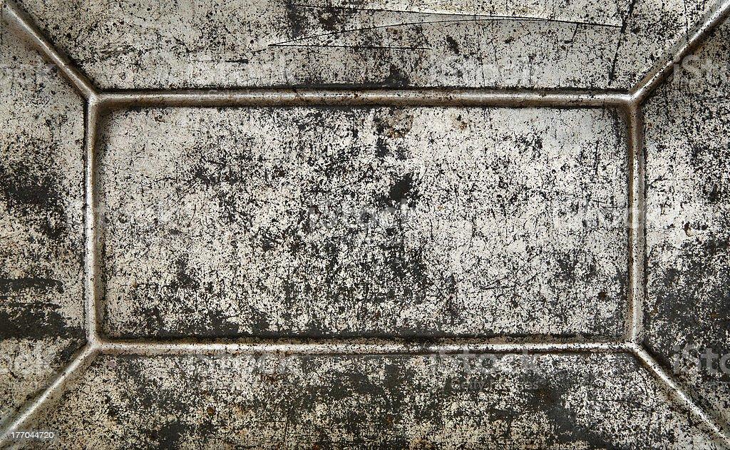Vintage rusty grunge blank metal plate. royalty-free stock photo
