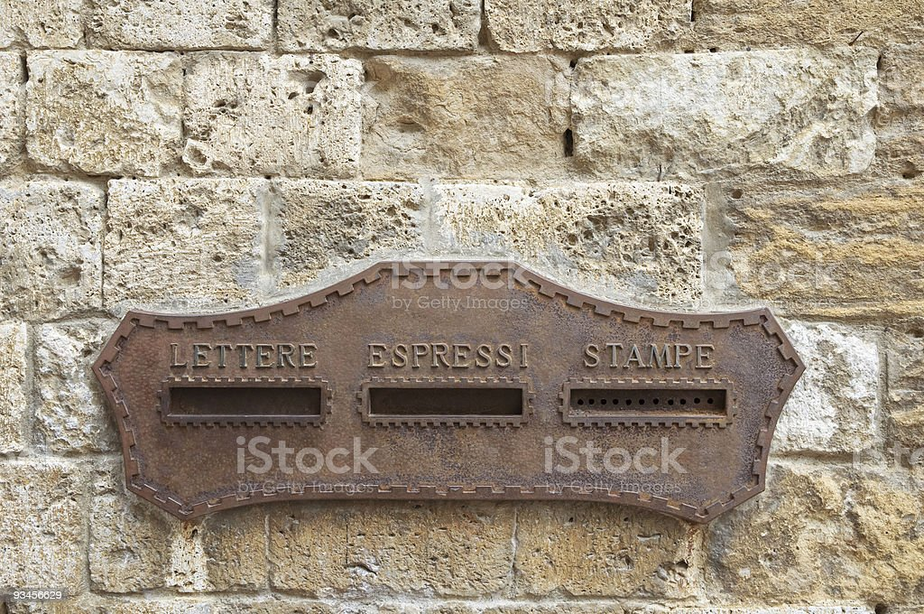 Vintage rusty mailbox royalty-free stock photo