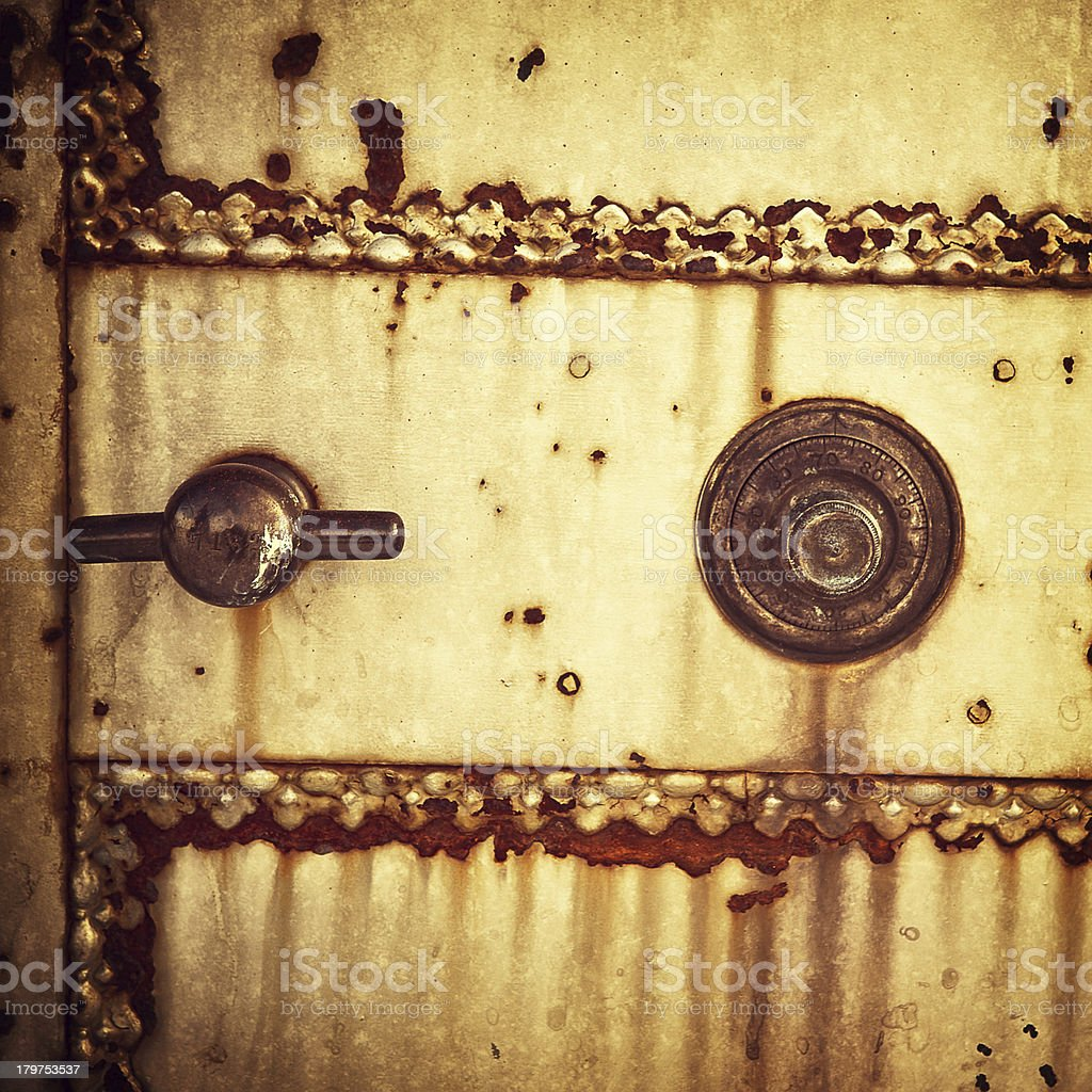 vintage safe detail royalty-free stock photo