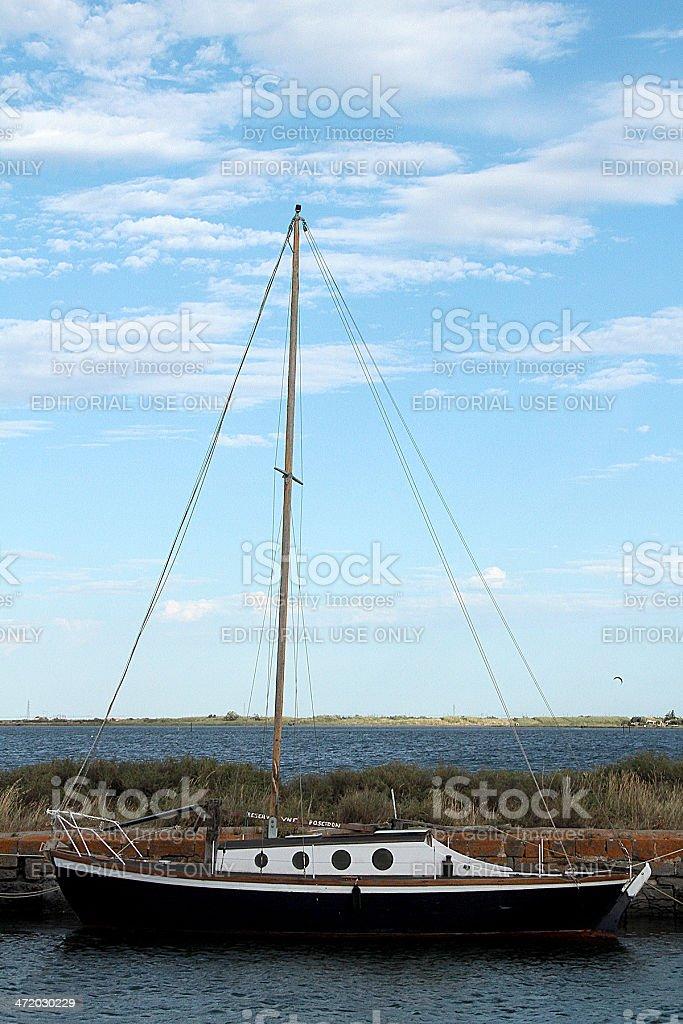 Vintage Barca a vela, sud della Francia foto stock royalty-free