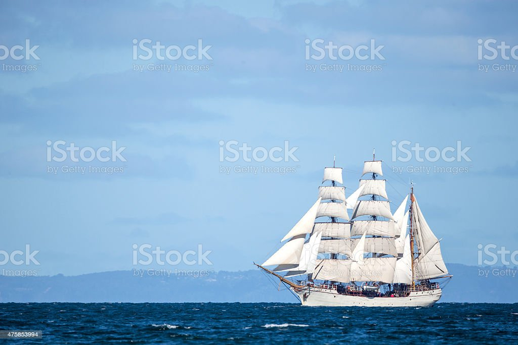 Vintage Sailing ship stock photo