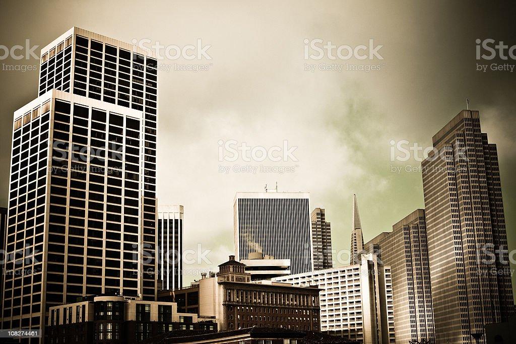Vintage San Francisco Skyline royalty-free stock photo