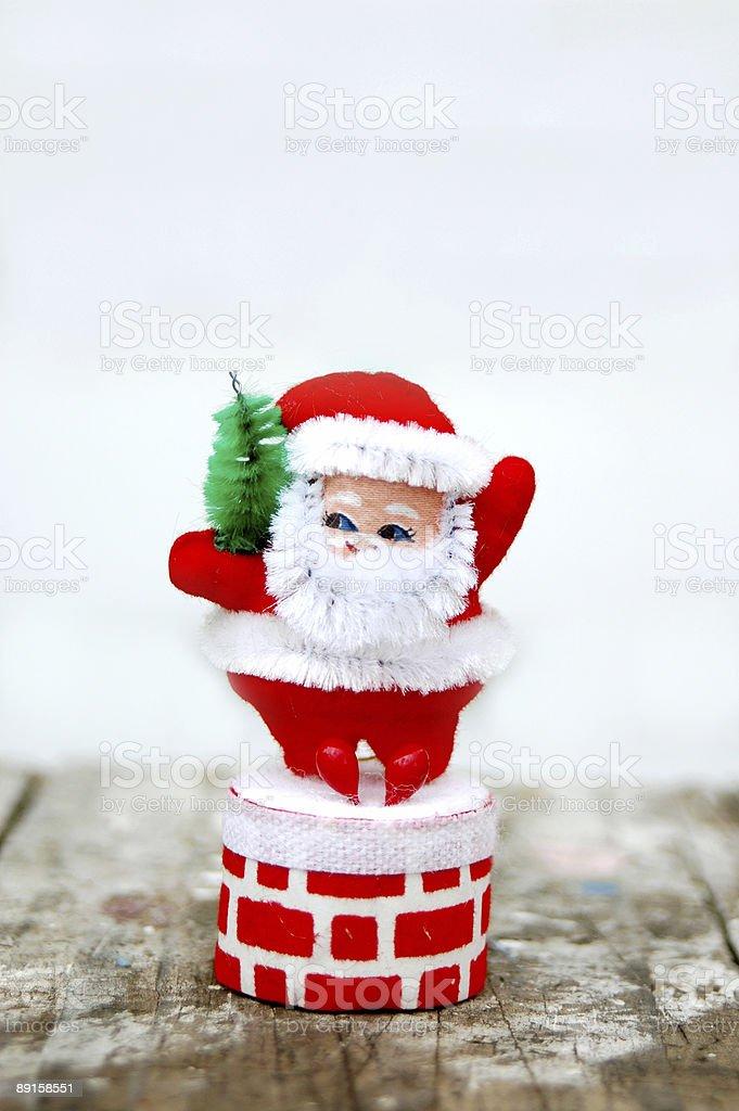vintage santa royalty-free stock photo