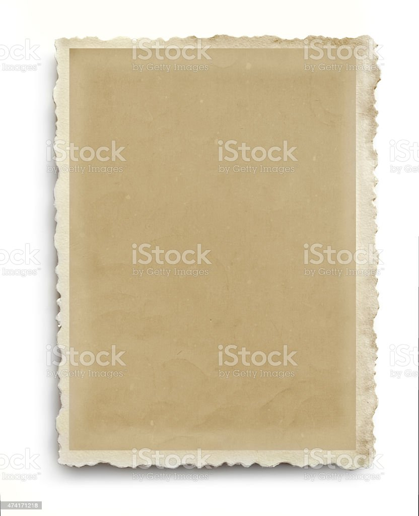 Vintage Scalloped Photo Frame Isolated stock photo