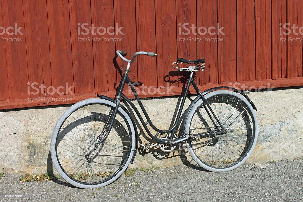 Vintage Scandinavian Bicycle royalty-free stock photo