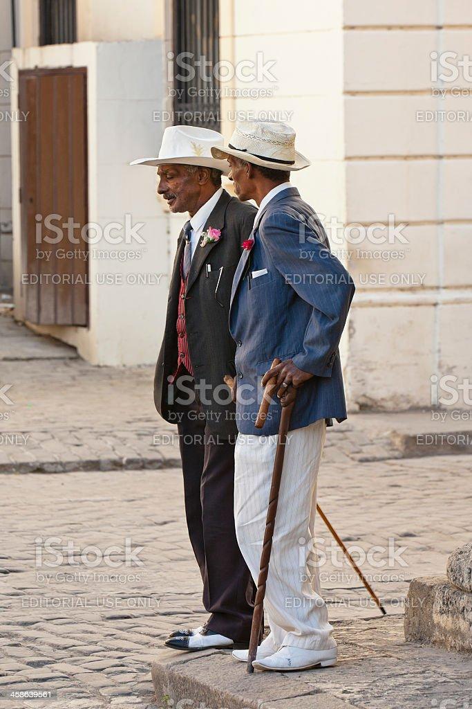 Vintage Scene in Havana, Cuba royalty-free stock photo