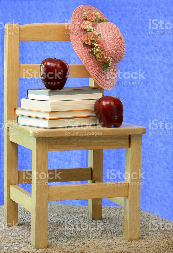 Vintage School Chair royalty-free stock photo
