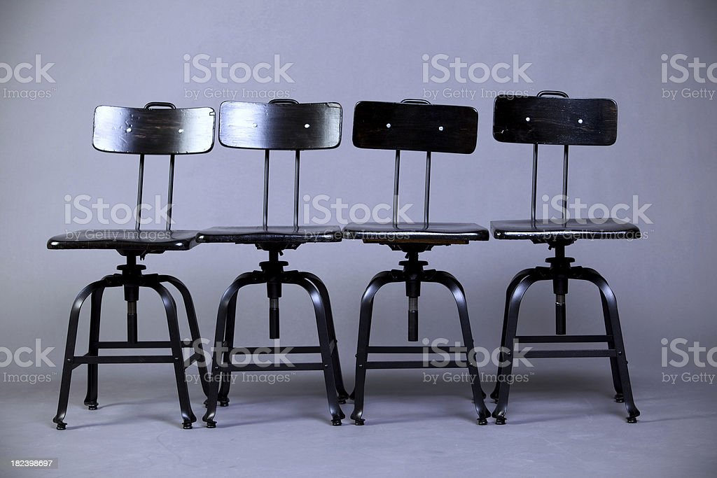 vintage school chairs royalty-free stock photo