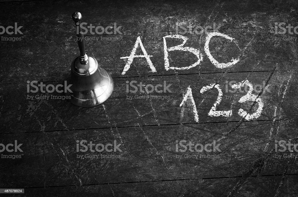 Vintage School Concept Black and White stock photo