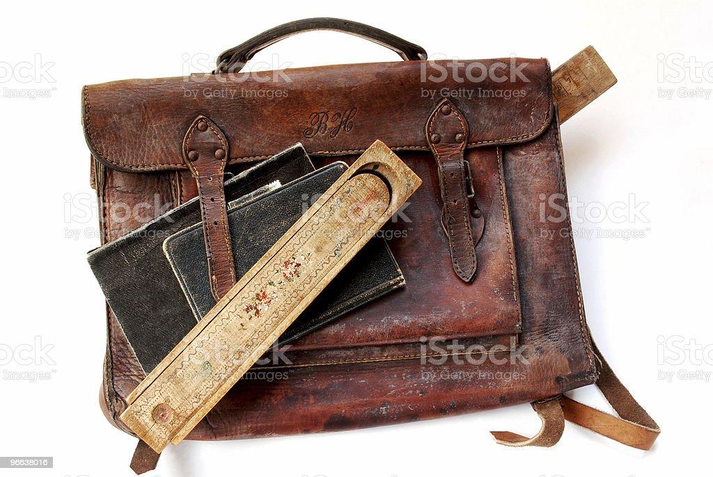 Vintage schoolbag royalty-free stock photo