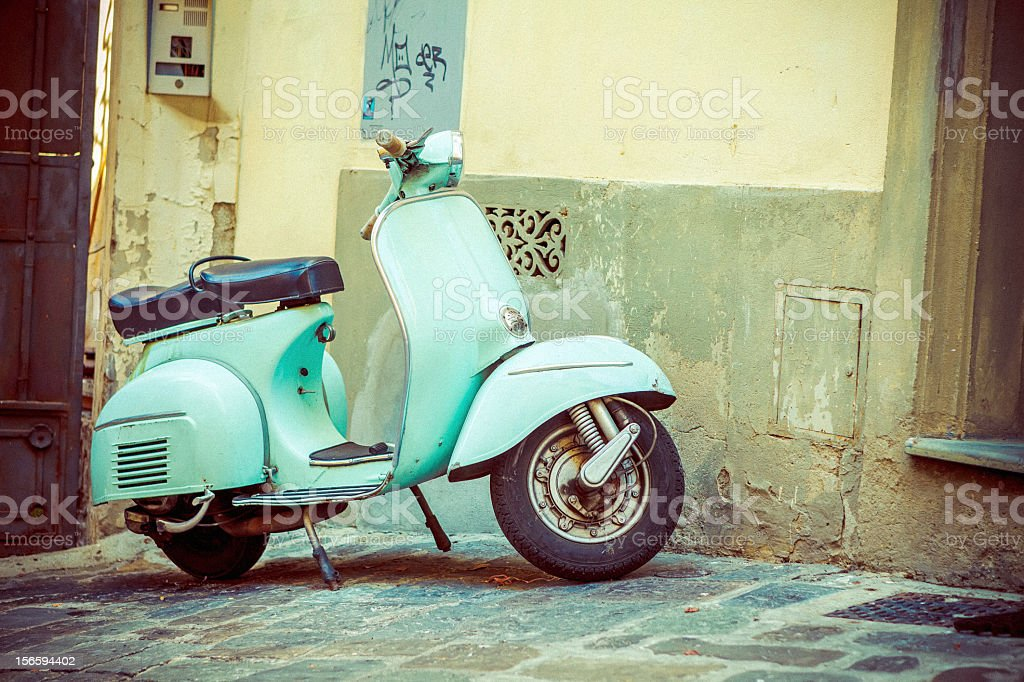 Vintage scooter stock photo