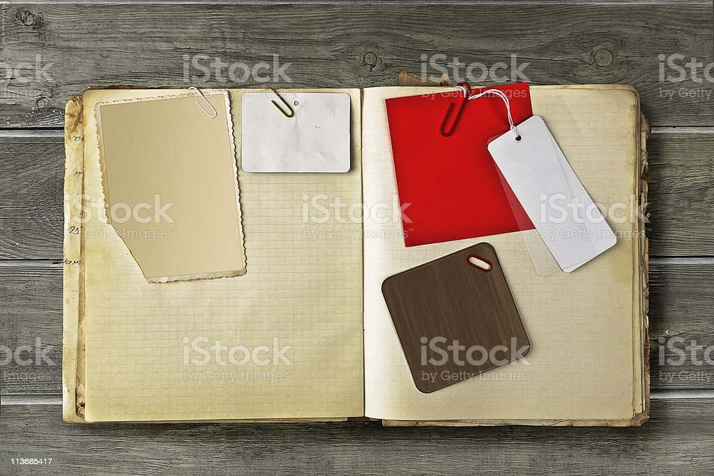 Vintage scrapbook stock photo