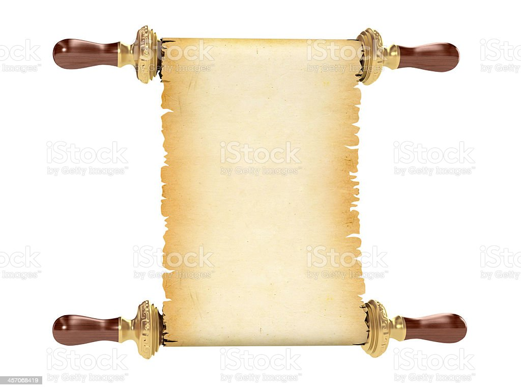 vintage scroll royalty-free stock photo