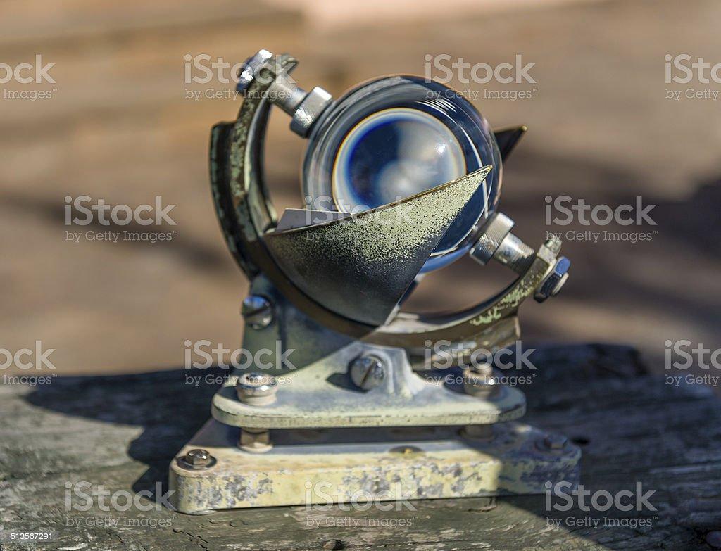 Vintage sea navigation instrument stock photo