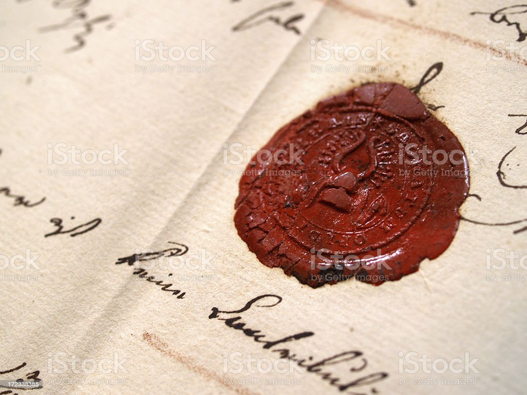vintage seal stock photo