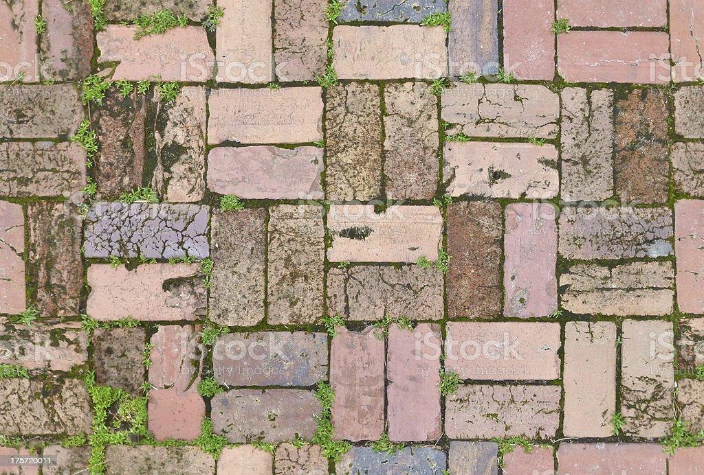 Vintage Seamless Brick Path royalty-free stock photo