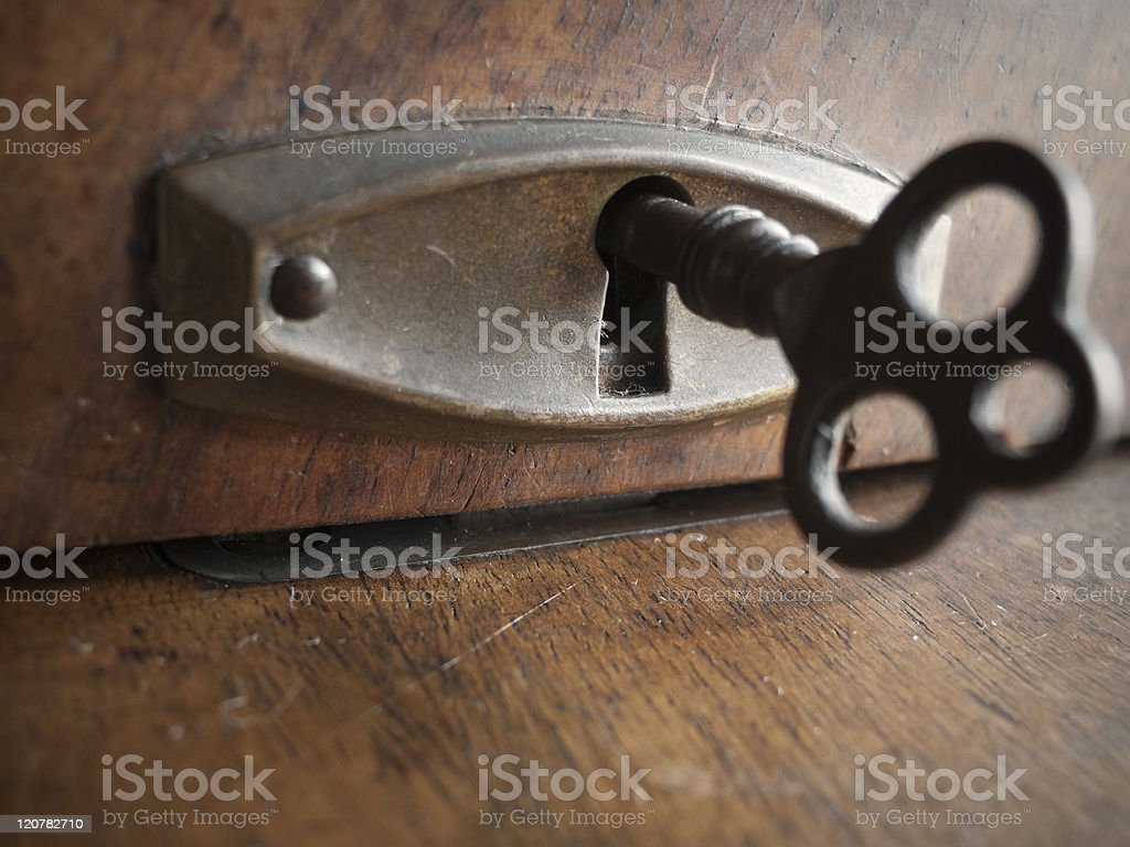 Vintage security stock photo