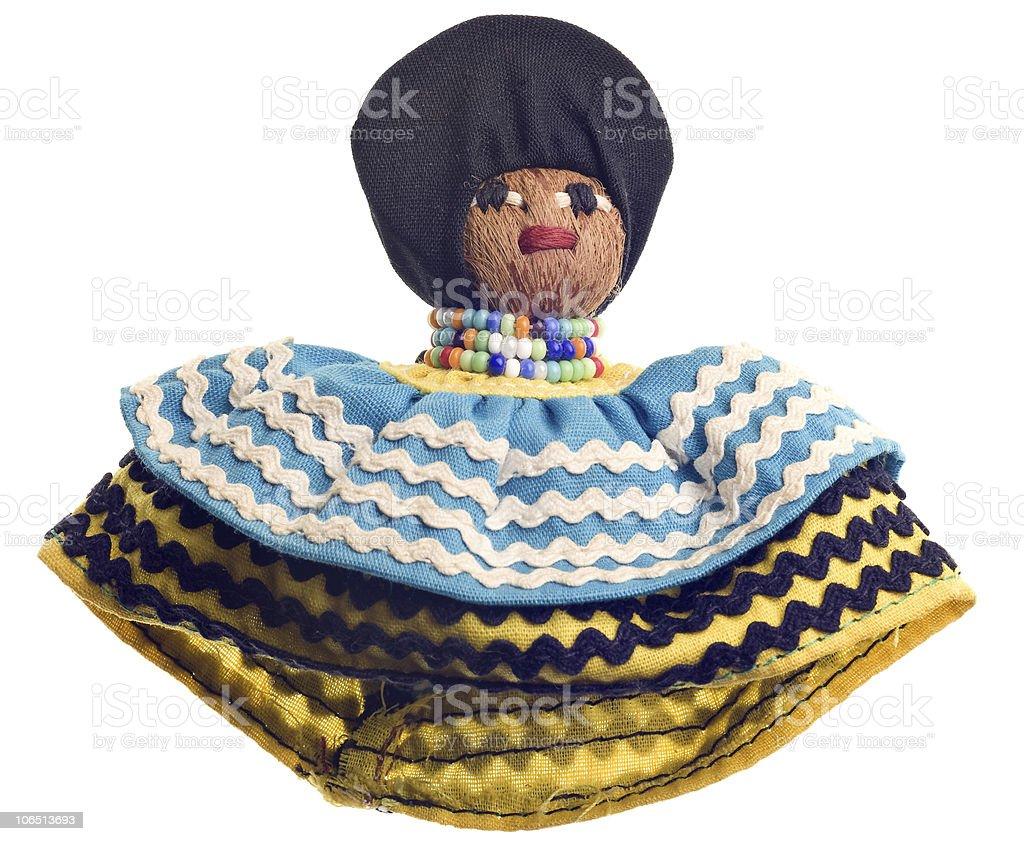Vintage Seminole handmade doll stock photo