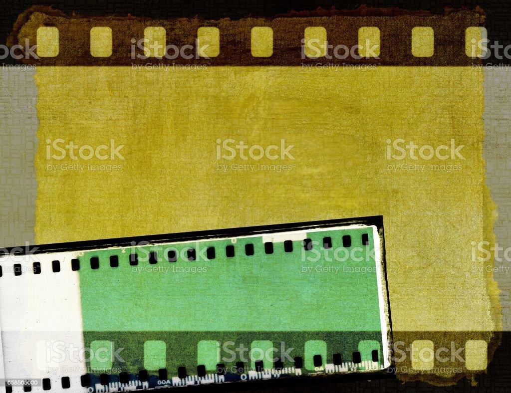 Vintage sepia film strip frame or background stock photo