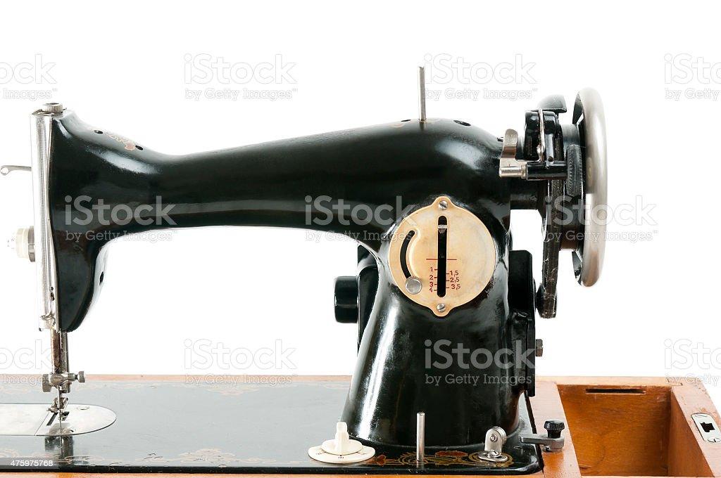 Vintage sewing machine stock photo