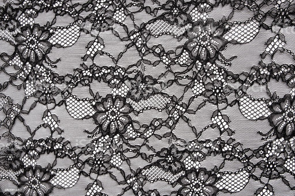 Vintage Sexy Black Lace stock photo