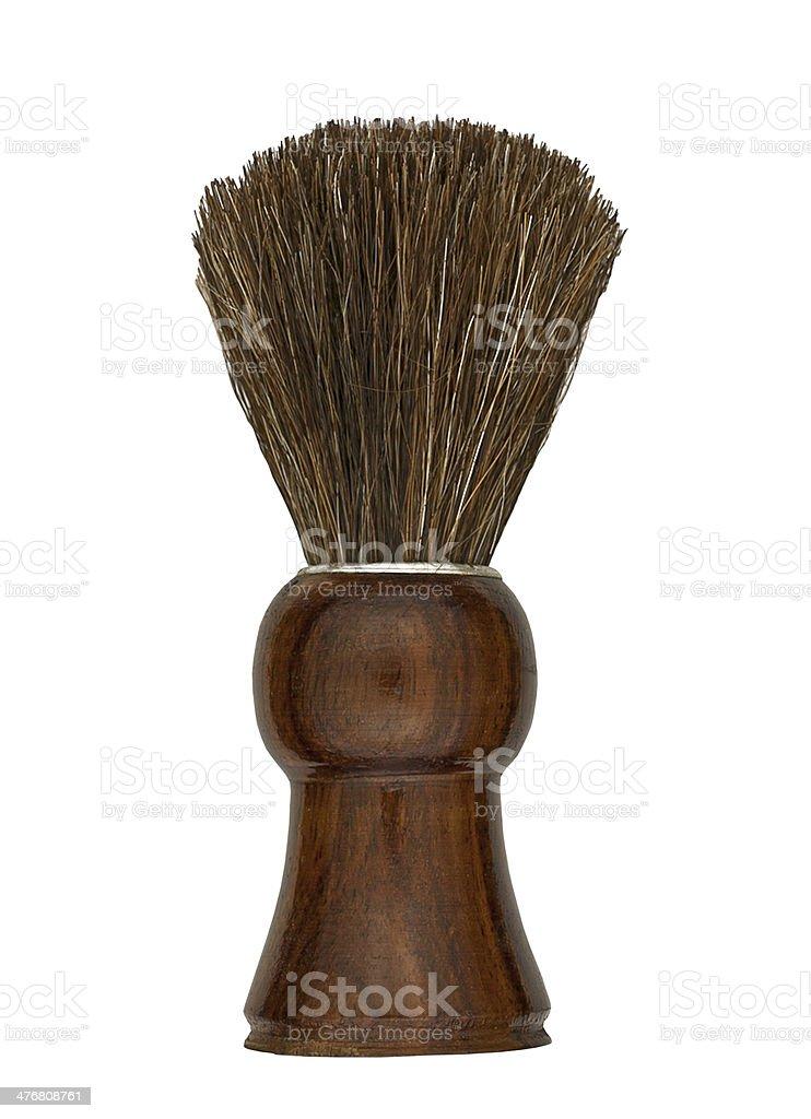 vintage shaving brush stock photo
