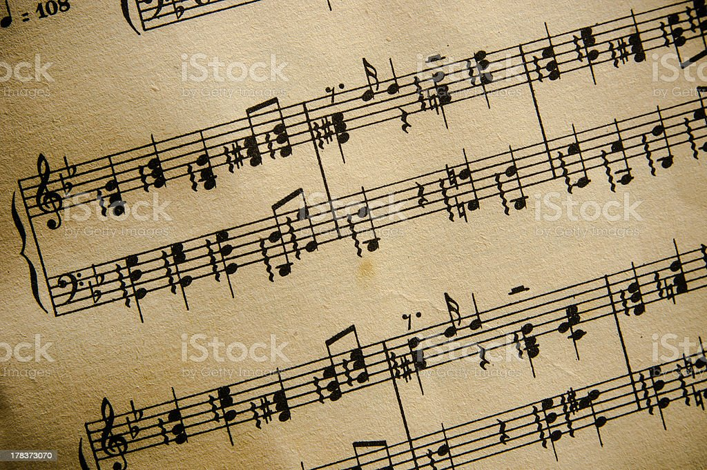 Vintage Sheet Music Classical opera stock photo
