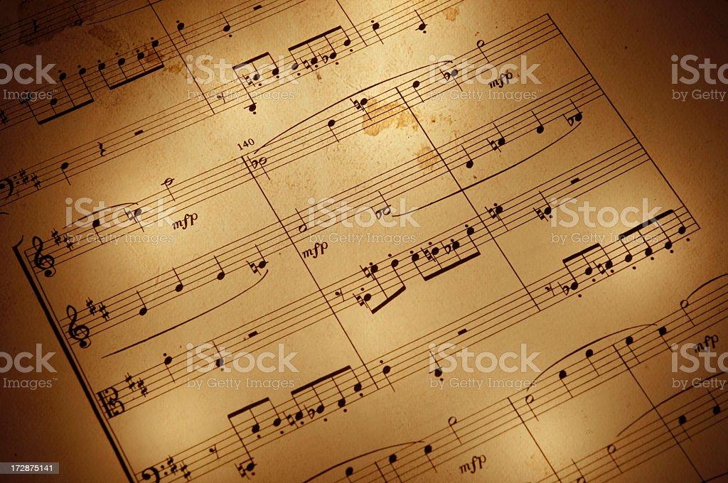 Vintage Sheet Music royalty-free stock photo