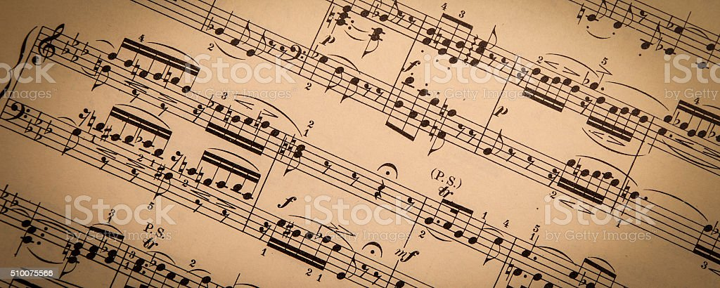 Vintage Sheet Music stock photo
