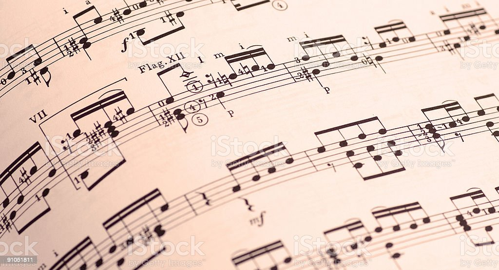 Vintage sheet of music royalty-free stock photo