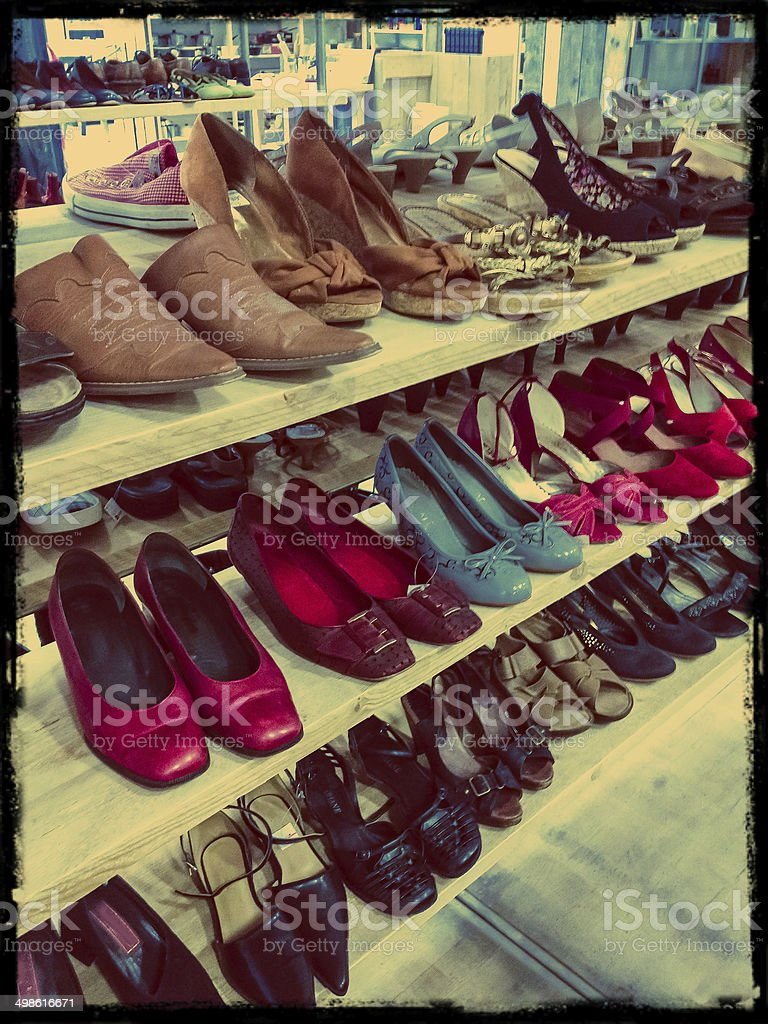 Vintage shoes stock photo
