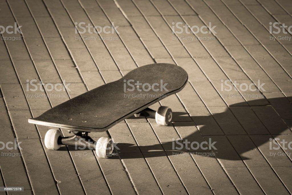 vintage skateboard stock photo