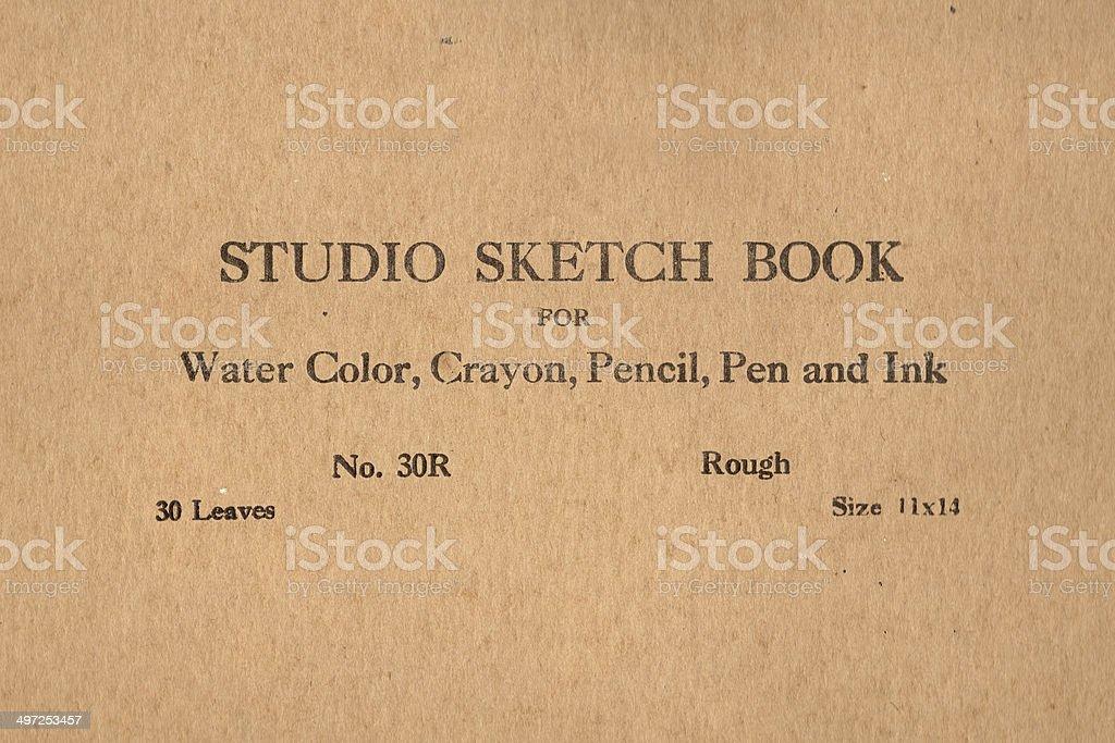 vintage sketch book stock photo