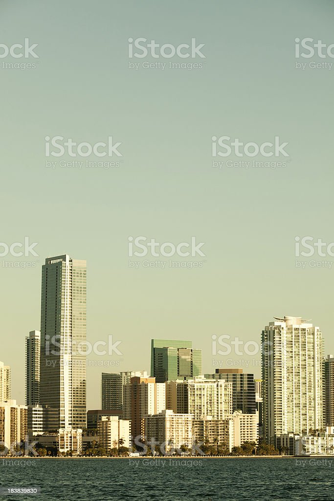 Vintage Skyscraper in Miami royalty-free stock photo