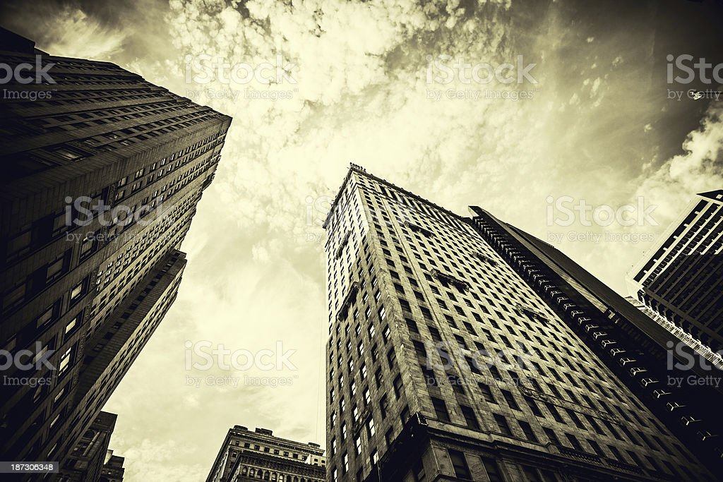 Vintage Skyscrapers in Downtown Philadephia, USA stock photo