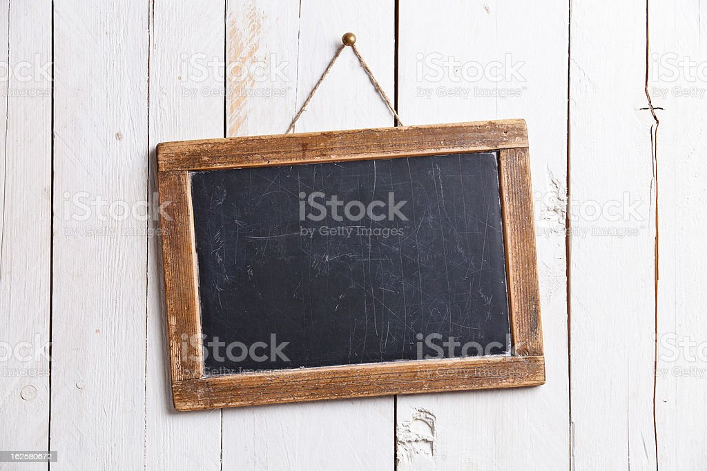 Vintage slate chalk board royalty-free stock photo